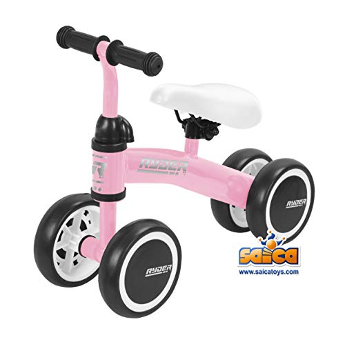 Saica Patinete Correpasillos My First Scooter Ryder Rosa, Color Negro, 5200 (1)